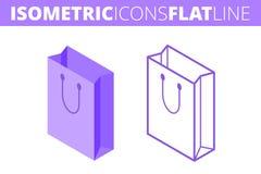 E Isometrico, piano 3d ed insieme dell'icona del profilo Fotografia Stock