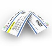 E-kaartjes voor de Reis van de Lucht Royalty-vrije Stock Afbeeldingen
