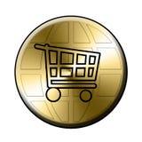 E-kaufen Taste Lizenzfreie Stockfotografie