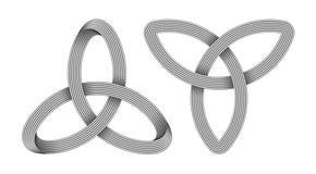 E Keltisch drievuldigheidssymbool Vector illustratie stock illustratie