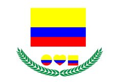 E Kolumbien-Flagge Die Niederlande Lizenzfreies Stockfoto