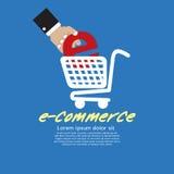 E-kommers. stock illustrationer