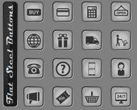 E-kommers enkelt symboler stock illustrationer