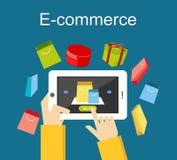 E-kommers illustration Online-shoppingillustration Royaltyfri Foto