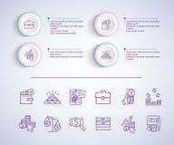 E-kommers Infographic på vektorillustration royaltyfri illustrationer