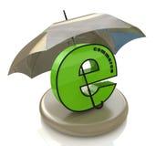 E-kommers och paraply stock illustrationer