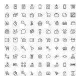 E-kommers plan symbol vektor illustrationer