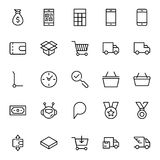 E-kommers plan symbol stock illustrationer