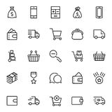 E-kommers plan symbol royaltyfri illustrationer