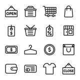 E-kommers shoppingsymbol Fotografering för Bildbyråer