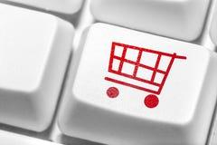 E-kommers som direktanslutet shoppar. Arkivbilder