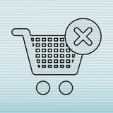 E-kommers symbolsdesign stock illustrationer