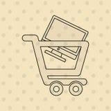 E-kommers symbolsdesign royaltyfri illustrationer