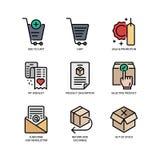 E-kommers websitesymbol vektor illustrationer