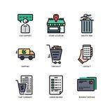E-kommers websitesymbol royaltyfri illustrationer