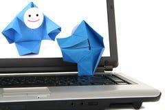 E-Kommunikation und Geschäftsverkehrmetapher Lizenzfreie Stockfotos
