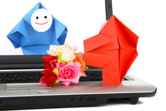 E-Kommunikation und Geschäftsverkehrmetapher Lizenzfreie Stockbilder