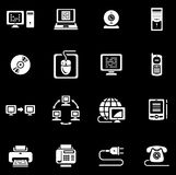 E-Kommunikationen vektorikonenset Stockfotografie