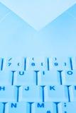 e komputerowa poczta kopertowa klawiaturowa Obrazy Stock