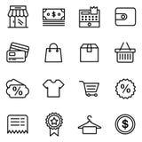 E-komrets affärsfinans shoppar Arkivbilder