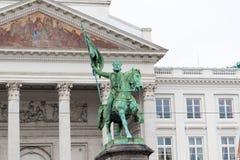 E 02 19: Koning Albert Statue In Brussels Belgium royalty-vrije stock foto