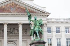 E 02 19: Koning Albert Statue In Brussels Belgium royalty-vrije stock fotografie