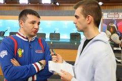E.Kravcov - instrutor da equipe do dínamo de Moscovo Foto de Stock Royalty Free