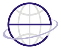 e kuli ziemskiej logo Zdjęcia Stock