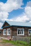 E la città eleganza della casa dell'azienda agricola di Ergunaen di quantità della riva del fiume di piccola Fotografia Stock Libera da Diritti
