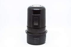E27 Lamp holder with switch. Black E27 Lamp holder with switch Stock Image