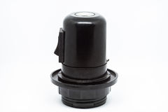 E27 Lamp holder with switch. Black E27 Lamp holder with switch Stock Images