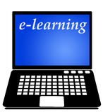 E-learning. On your internet-connected computer (copy space on the computer screen Royalty Free Stock Image