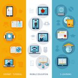 E-learning Banners Vertical Royalty Free Stock Photo