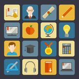 E-learning Buttons Set Royalty Free Stock Image