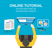 E-learning computer Royalty Free Stock Images