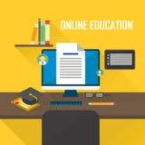E-learning computer Stock Photo