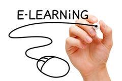 E-Learning-Computer-Mäusekonzept stockfoto