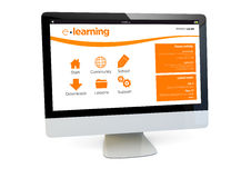 E-learning computer Stock Images