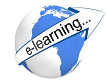 E-Learning Concept. In 3D Stock Image