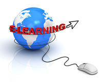 E-learning concept Royalty Free Stock Photography