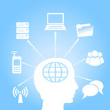 E-learning concept. Illustration of virtual learning concept Stock Images