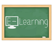E-Learning concept stock illustration