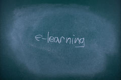 E-learning concept Stock Photography