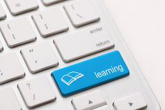 E-Learning Concept. Computer Keyboard Royalty Free Stock Photo