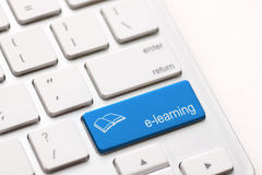 E-Learning Concept. Computer Keyboard Royalty Free Stock Photography