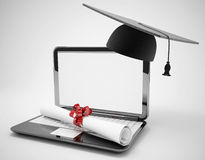 E-learning concept. 3d high quality render Stock Image