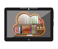 E-learning concept. Design, vector illustration eps10 graphic Stock Image
