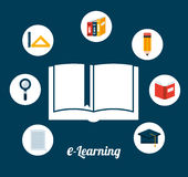 E-learning concept. Design, vector illustration eps10 graphic Royalty Free Stock Photo