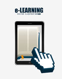 E-learning  concept design Royalty Free Stock Photography