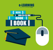 E-learning  concept design Stock Photography